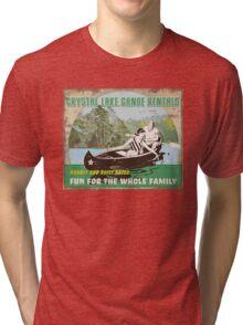 Crystal Lake Canoe Rentals Tri-blend T-Shirt