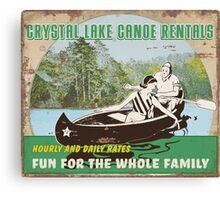 Crystal Lake Canoe Rentals Canvas Print