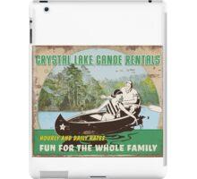 Crystal Lake Canoe Rentals iPad Case/Skin