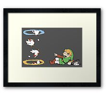 Thinking with Chickens Framed Print