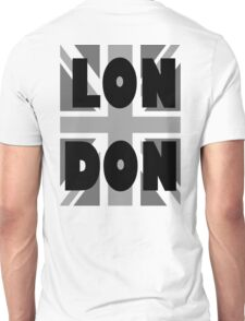 UNION JACK, LONDON, ENGLAND, GREY, BRITISH, GB, UK, Unisex T-Shirt