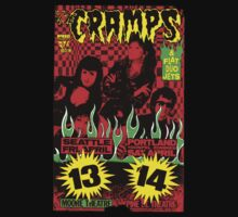 The Cramps (Seattle & Portland shows) Colour 2 One Piece - Short Sleeve