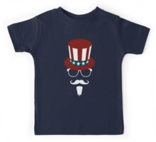 Hipster Uncle Sam Kids Tee