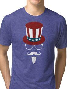 Hipster Uncle Sam Tri-blend T-Shirt