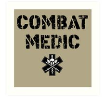 Combat Medic in tan Art Print