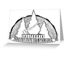 California State Champ's Emblem Greeting Card