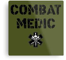 Combat Medic in olive drab Metal Print