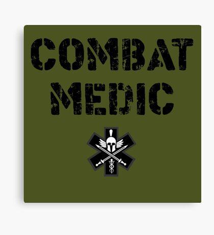 Combat Medic in olive drab Canvas Print