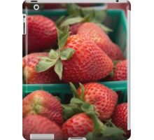 Fresh Strawberries at the Farmers Market iPad Case/Skin