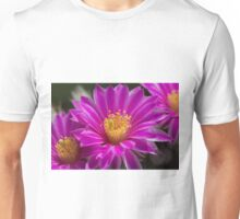 Pink Cactus Hedgehog Flower Unisex T-Shirt