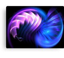 Blue Space Mollusk Canvas Print