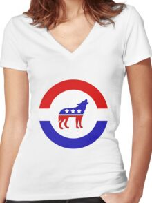 Stark 2016 Campaign Women's Fitted V-Neck T-Shirt