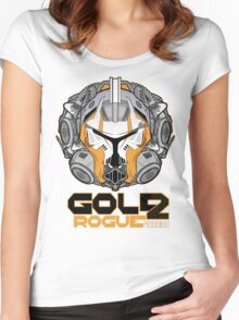 Star Wars GOLD 2 Rogue Warrior  Women's Fitted Scoop T-Shirt