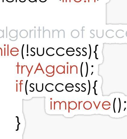 Algorithm of success Sticker
