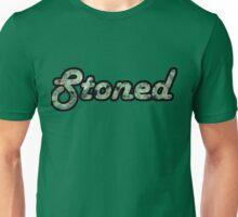 Stoned Bud Script Unisex T-Shirt
