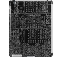 Analog Synthesizer - Modular Design - on black background iPad Case/Skin