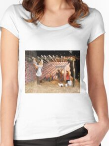 NATIVITY Women's Fitted Scoop T-Shirt