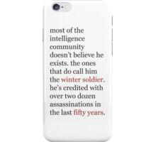 intelligence community iPhone Case/Skin