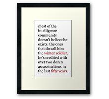 intelligence community Framed Print