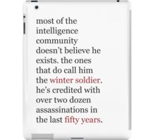 intelligence community iPad Case/Skin