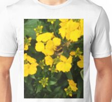 Bumble Bee In Yellow Flowers Unisex T-Shirt