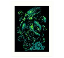 This Is Horror Green on Black OctoTerror Art Print