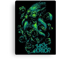 This Is Horror Green on Black OctoTerror Canvas Print