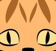 Orange Tabby Cat Face Graphic Sticker