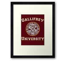 Gallifrey University Framed Print