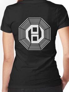 Danganronpa- yin yang symbol Women's Fitted V-Neck T-Shirt