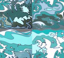 Splash patterns Sticker