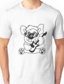 electric guitar electro guitar rocker heavy metal hard rock bass band music party concert Teddy Bear comic cartoon sweet cute Unisex T-Shirt