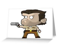 TWD Rick Grimes chibi Greeting Card