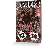 The Cramps (Seattle & Portland shows) Vintage Greeting Card