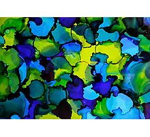 Blue, Green, Yellow Dots Photographic Print