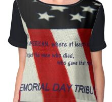 MEMORIAL TRIBUTE      ^ Chiffon Top