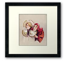 Romana and Brax Framed Print