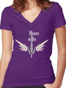 Mercever Women's Fitted V-Neck T-Shirt