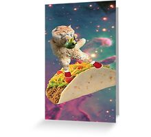 taco bong cat Greeting Card