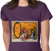 Alice in Wonderland and Through the Looking Glass Alphabet O Womens Fitted T-Shirt
