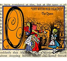 Alice in Wonderland and Through the Looking Glass Alphabet O Photographic Print