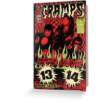 The Cramps (Seattle & Portland shows) Vintage 2 Greeting Card