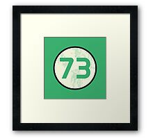Sheldon Cooper - Distressed Vanilla Cream Circle 73 Transparent Variant Framed Print