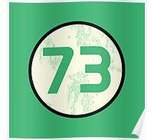 Sheldon Cooper - Distressed Vanilla Cream Circle 73 Transparent Variant Poster
