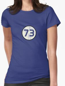 Sheldon Cooper - Distressed Vanilla Cream Circle 73 Transparent Variant Womens Fitted T-Shirt
