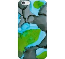 Grey, Green, & Blue Abstract iPhone Case/Skin