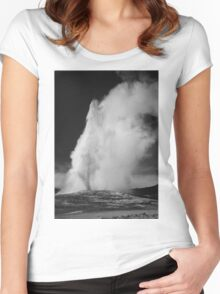 Ansel Adams - Old Faithful Women's Fitted Scoop T-Shirt