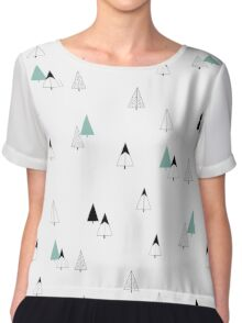 Pine Trees Chiffon Top