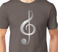 Silver Music Note Unisex T-Shirt