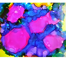 Pink & Blue Abstract Photographic Print